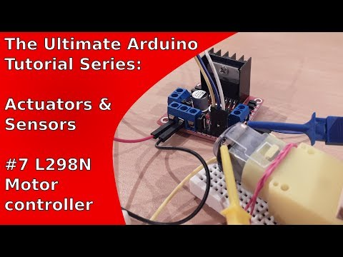 How to control a DC motor the Arduino Uno (L298N) | UATS A&S #7
