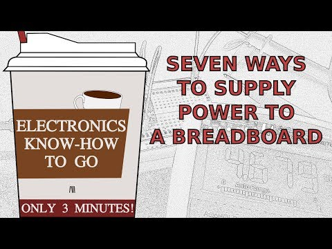 7 Ways to Supply Power to a Breadboard | Electronics Know-how To Go #4