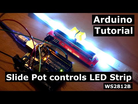 How to control WS2812B LED strips with Slide Pots | Arduino Tutorial
