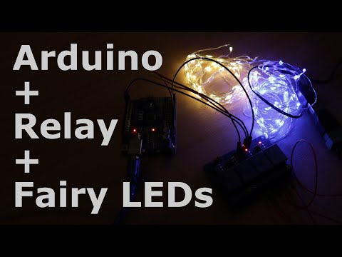 Tutorial: Arduino + Relay (HL-54S) + Fairy LEDs (LED Strings, Colored String Lights, Twinkle Lights)