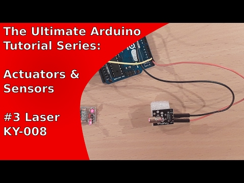How to use the red laser module KY-008 with the Arduino Uno | UATS A&S #3