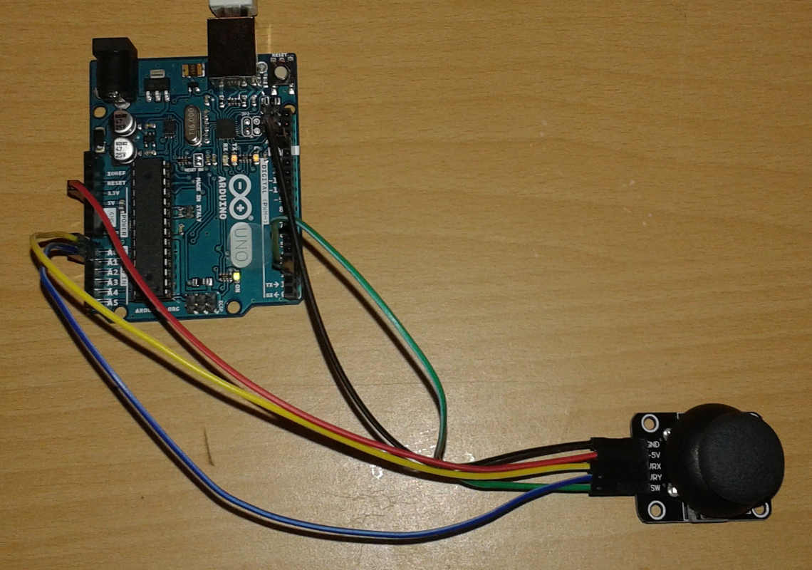 How To Use An Analog Joystick Ky 023 With Arduino Uno Michael 2 Axis Wiring Diagrams Picture Of Connect
