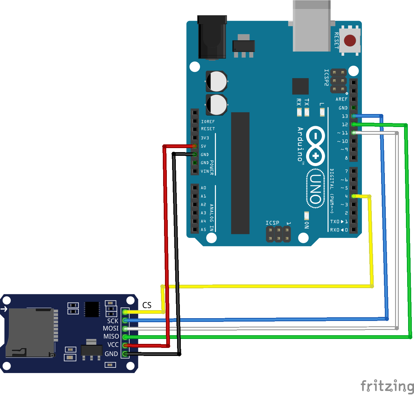 "How to use the ""microsd card adapter with arduino uno"