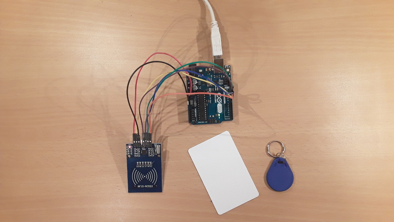 How To Use The Rfid Rc522 Module Reader With Arduino Uno Tag Circuit Related Keywords Suggestions Setup Of This Tutorial And Two Tags