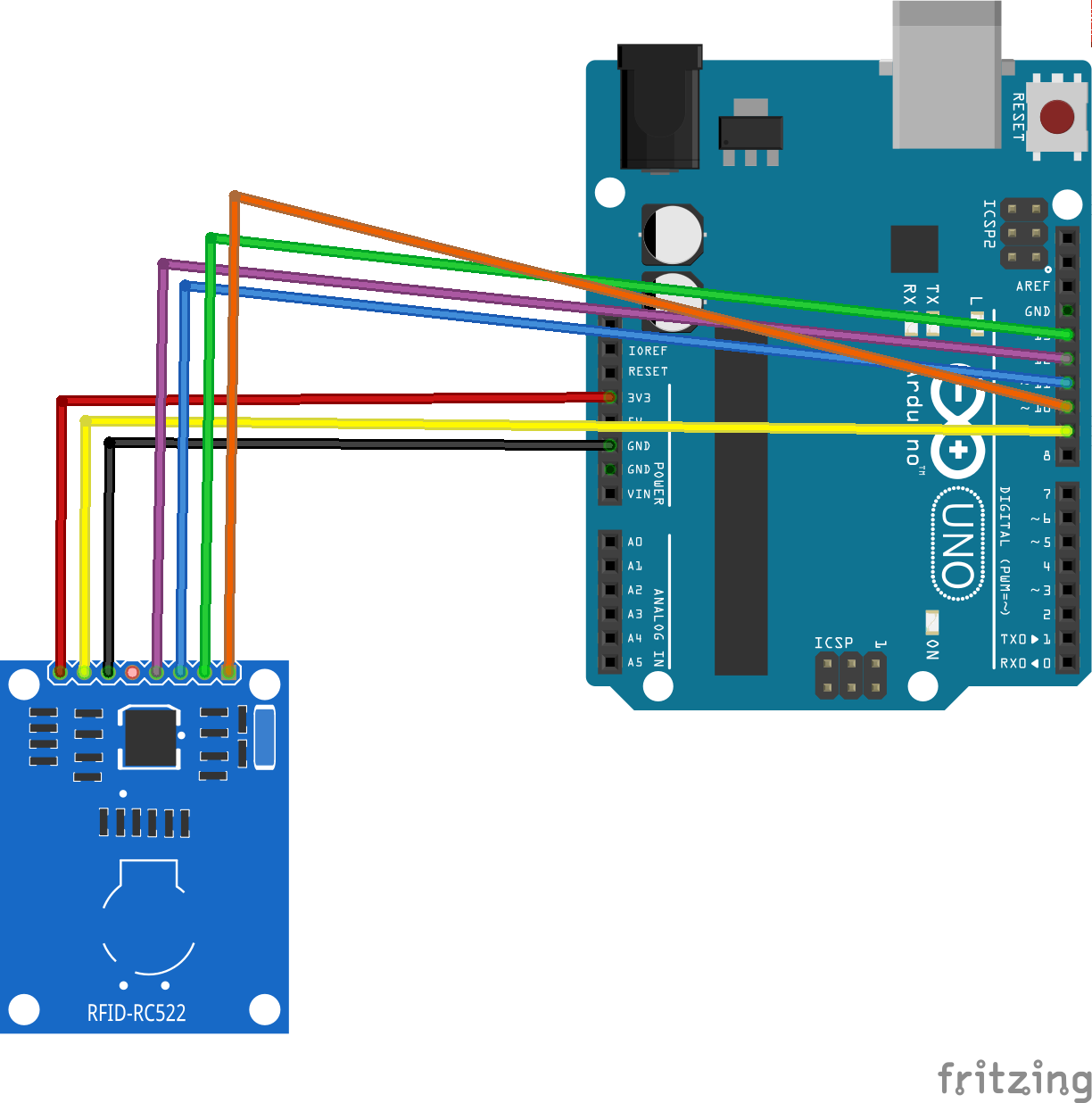 How To Use The Rfid Rc522 Module Reader With Arduino Uno Tag Circuit Related Keywords Suggestions Schematic Of Connect