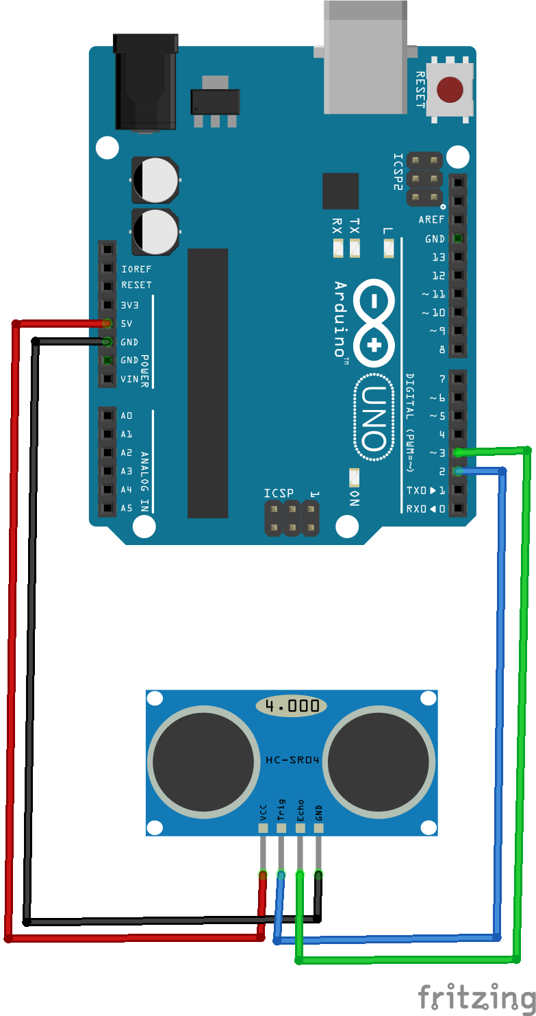 "How to use the ultrasonic sensor/actuator ""HC-SR04"" with the Arduino ..."