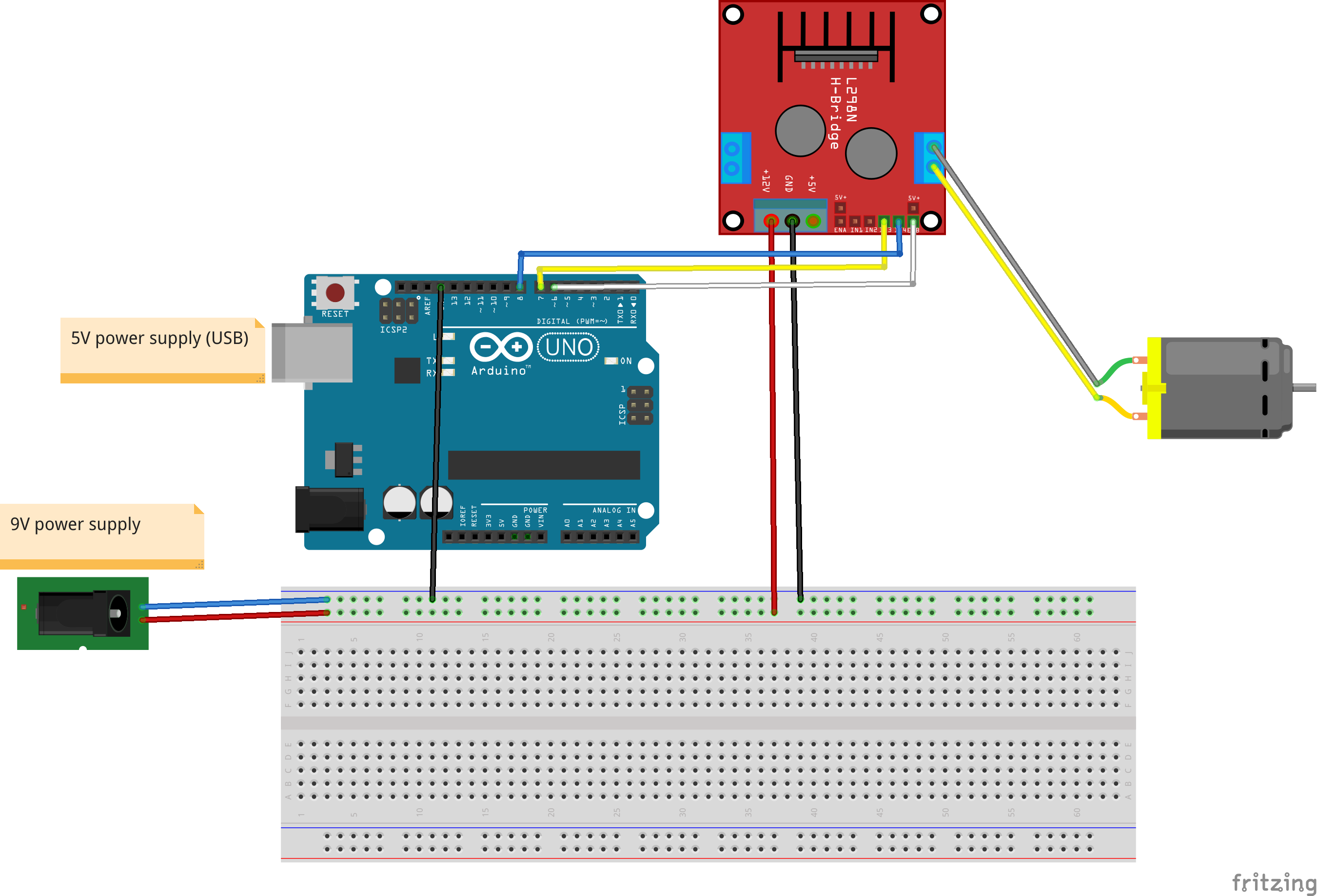 How To Control A Dc Motor With The Arduino Uno And L298n Dual Speed Circuit Diagram Further Scheme Of Tutorials Setup An Is Wired Module