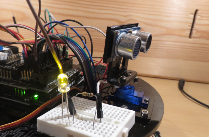 Automatic break system of the Augmented Arduino Car.