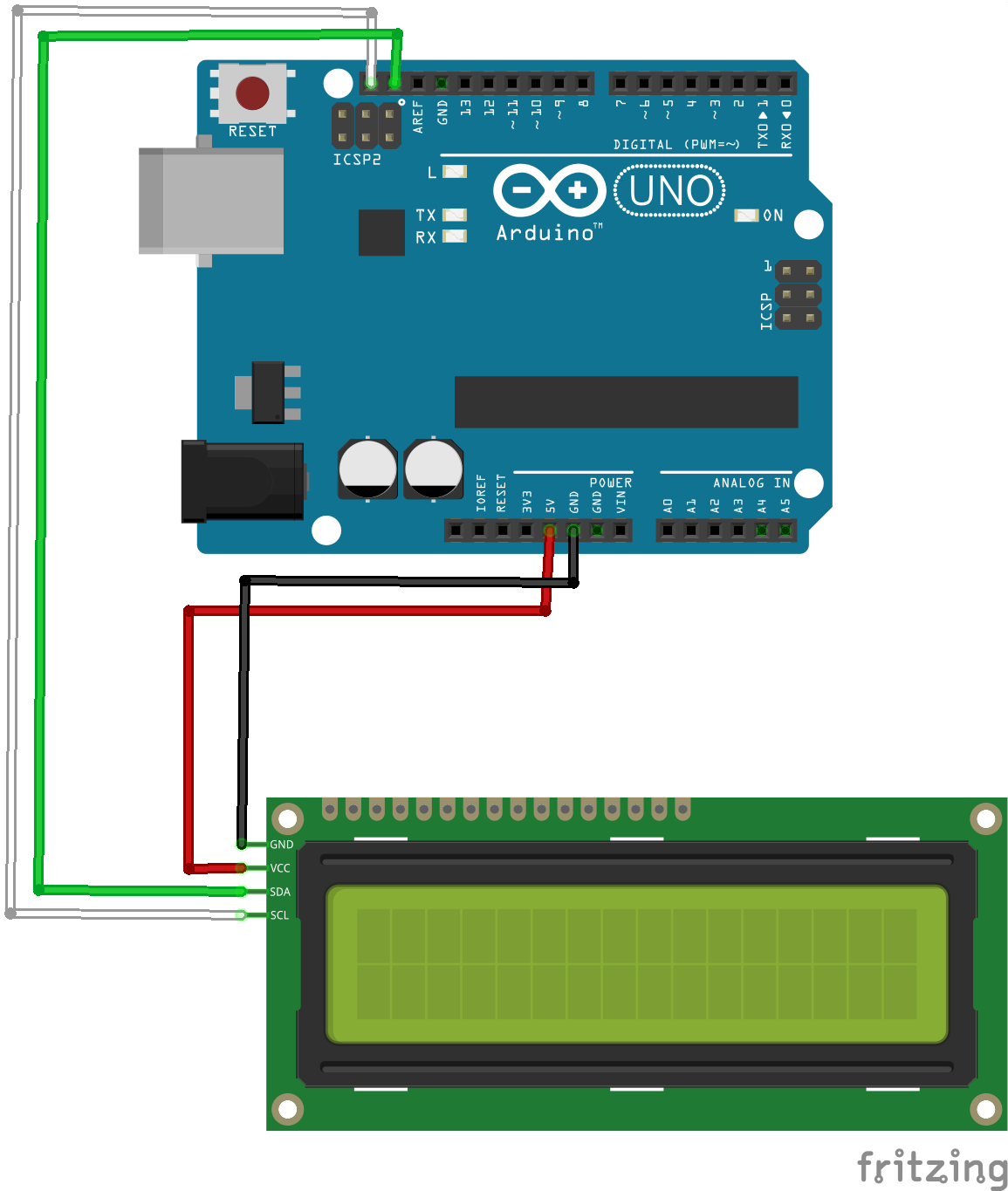 Tutorial Serial Connection Between Java Application And Arduino Uno Wiring Fritzing Files That Shows How To Wire An Lcm1602 Iic V1 Module