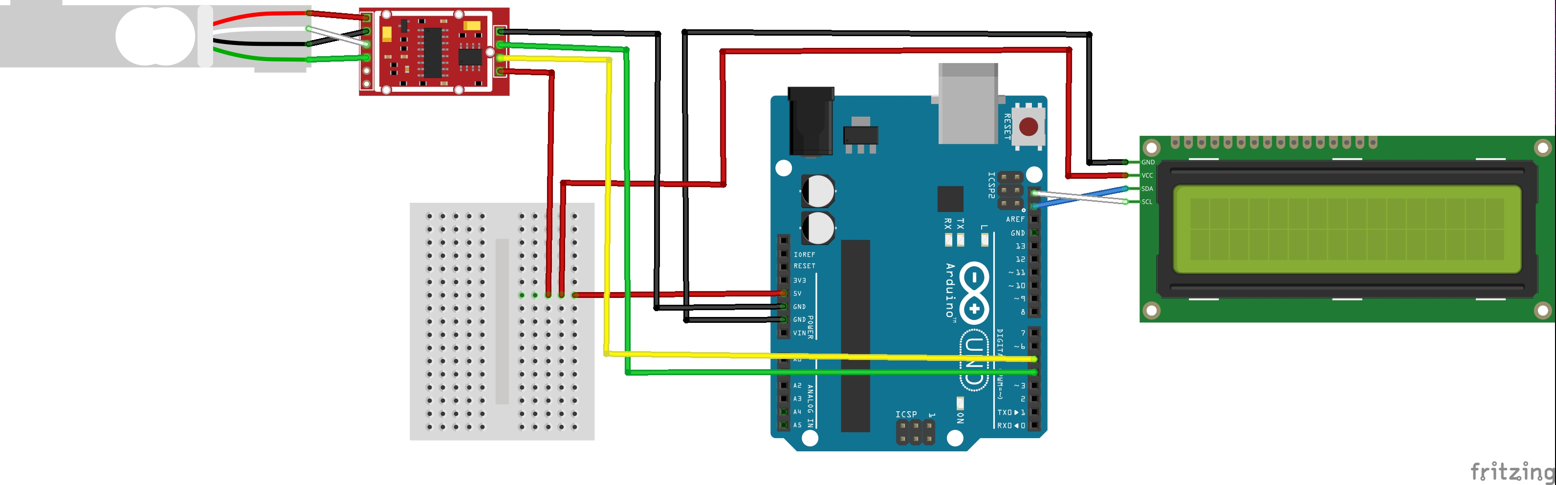 Arduino Tutorial Hx711 Load Cell Amplifier Weight Sensor Module 4 Wire Wiring Diagram Fritzing File That Shows How To Connect The Moreover