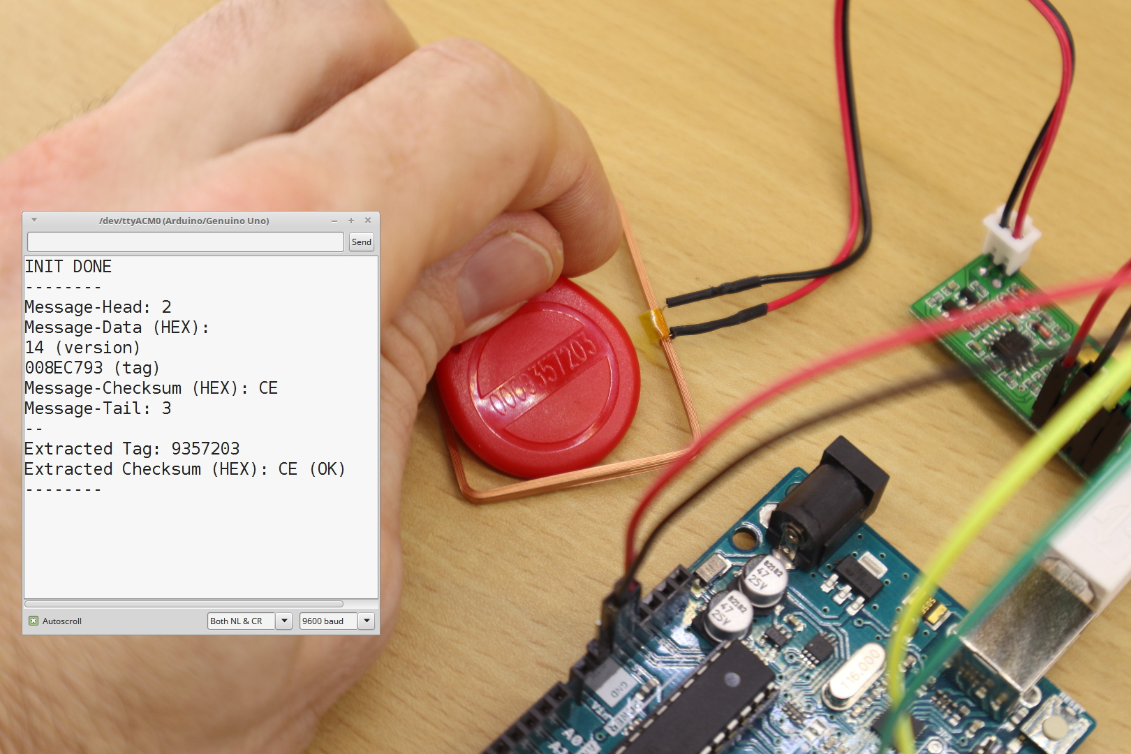 Arduino-Tutorial: How to use the RDM630/RDM6300 RFID reader